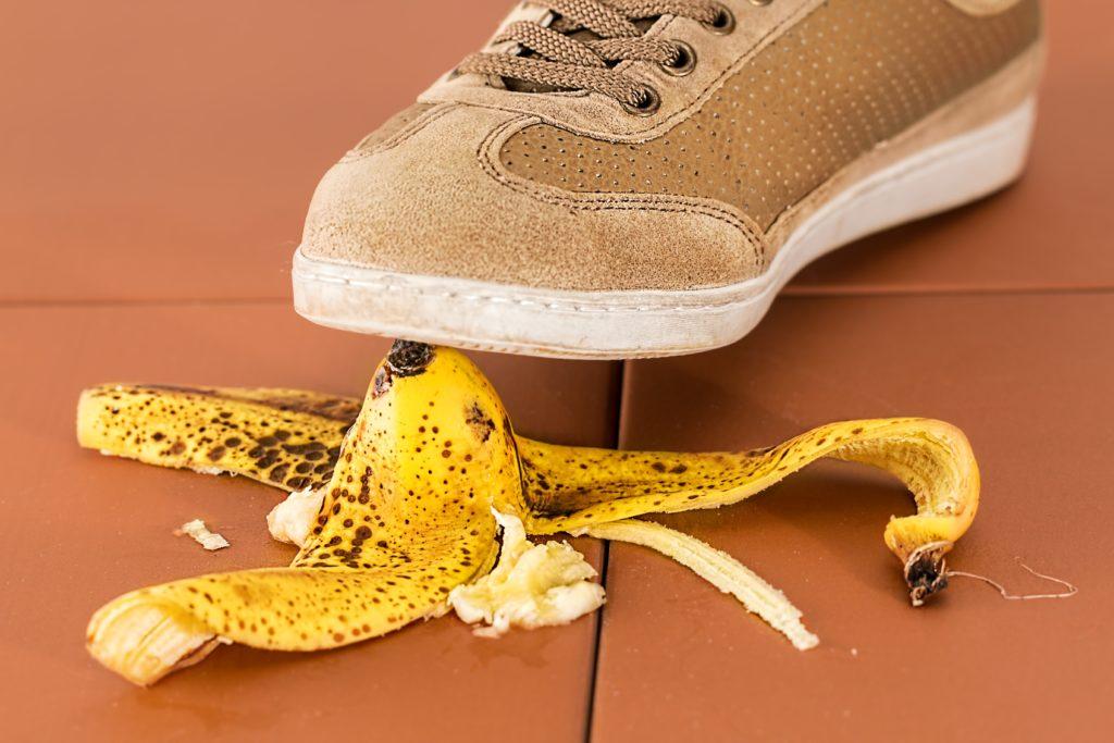 Deixe de pisar em cascas de banana!
