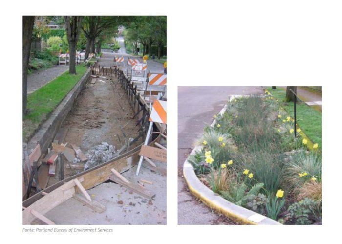 Jardim Filtrante - sistemas de drenagem urbana