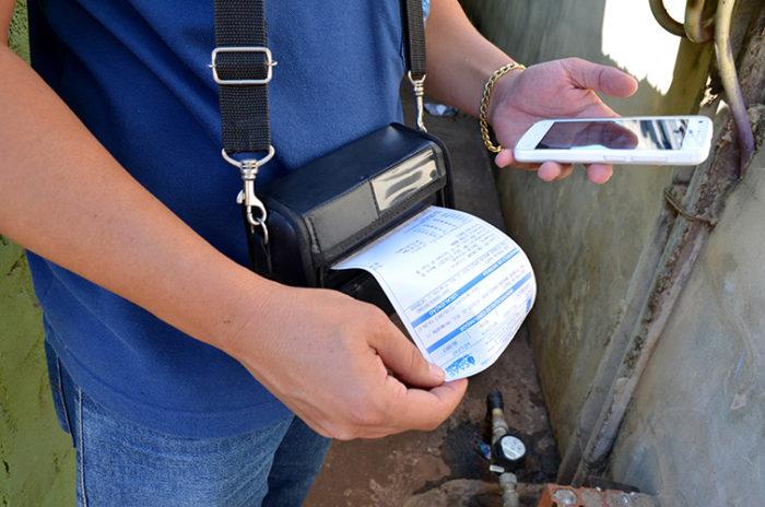 Impressão de conta de água
