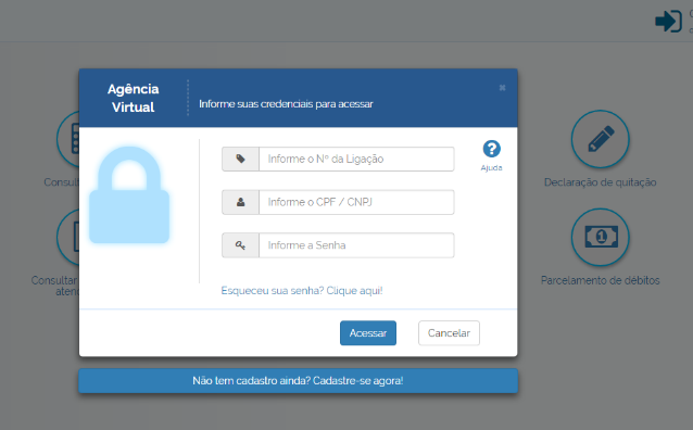 Agência Virtual Login