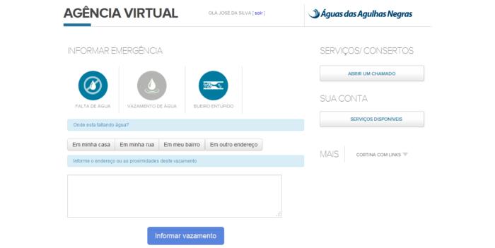 Emergências na Agência Virtual
