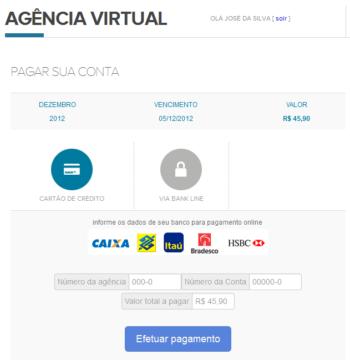 Agência Virtual - Geração de Boleto