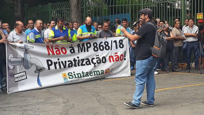 MP Saneamento Básico Protesto