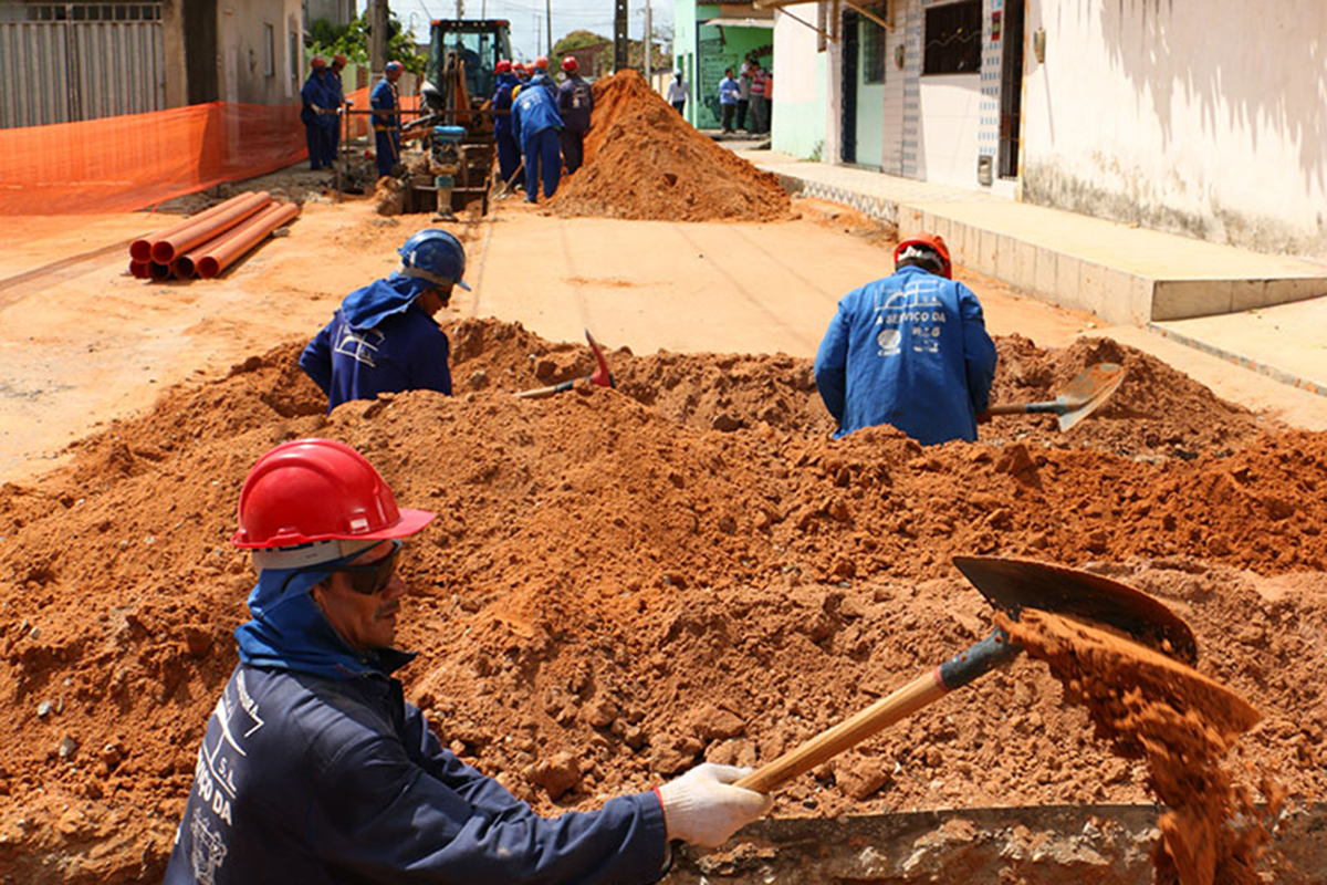 Obras de saneamento básico